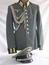Army Gebirgs leutnant Nachricten Abteilung parade dress/walking out dressuniform ( named) with matching visor hat