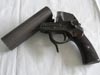 German Army marked double barrel flare gun