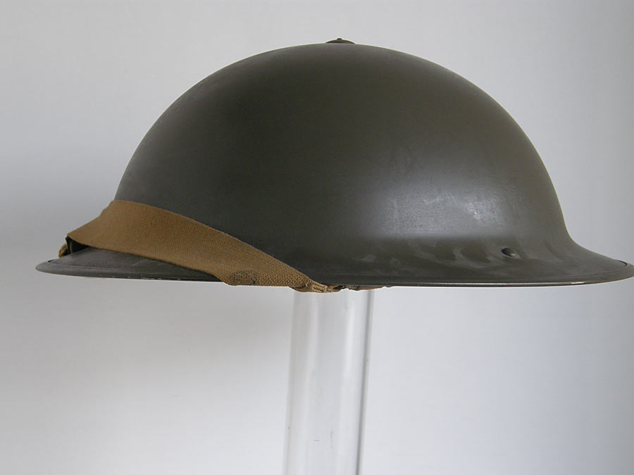ec760ed8224 Mint un-issued British Army helmet dated 1942 and maker stamped.