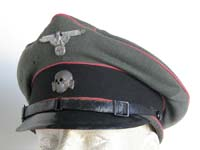 84eff34be13 Rare Waffen SS nco panzer visor hat
